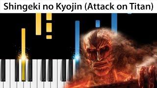 Guren no Yumiya - Shingeki no Kyojin OP 1 - Piano Tutorial - How to play Attack on Titan on piano