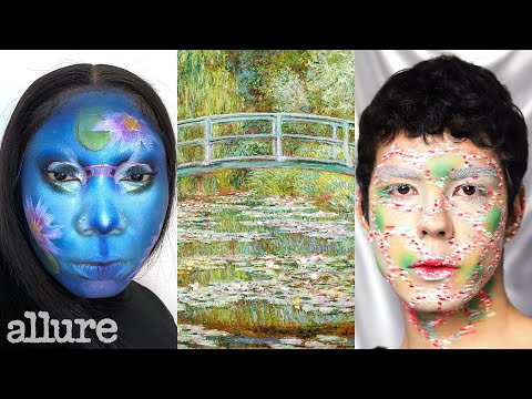 3 Makeup Artists Turn Themselves Into Monet's Water Lily Pond | Triple Take | Allure