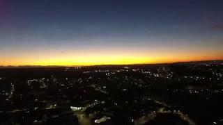 por do sol ao vivo do drone