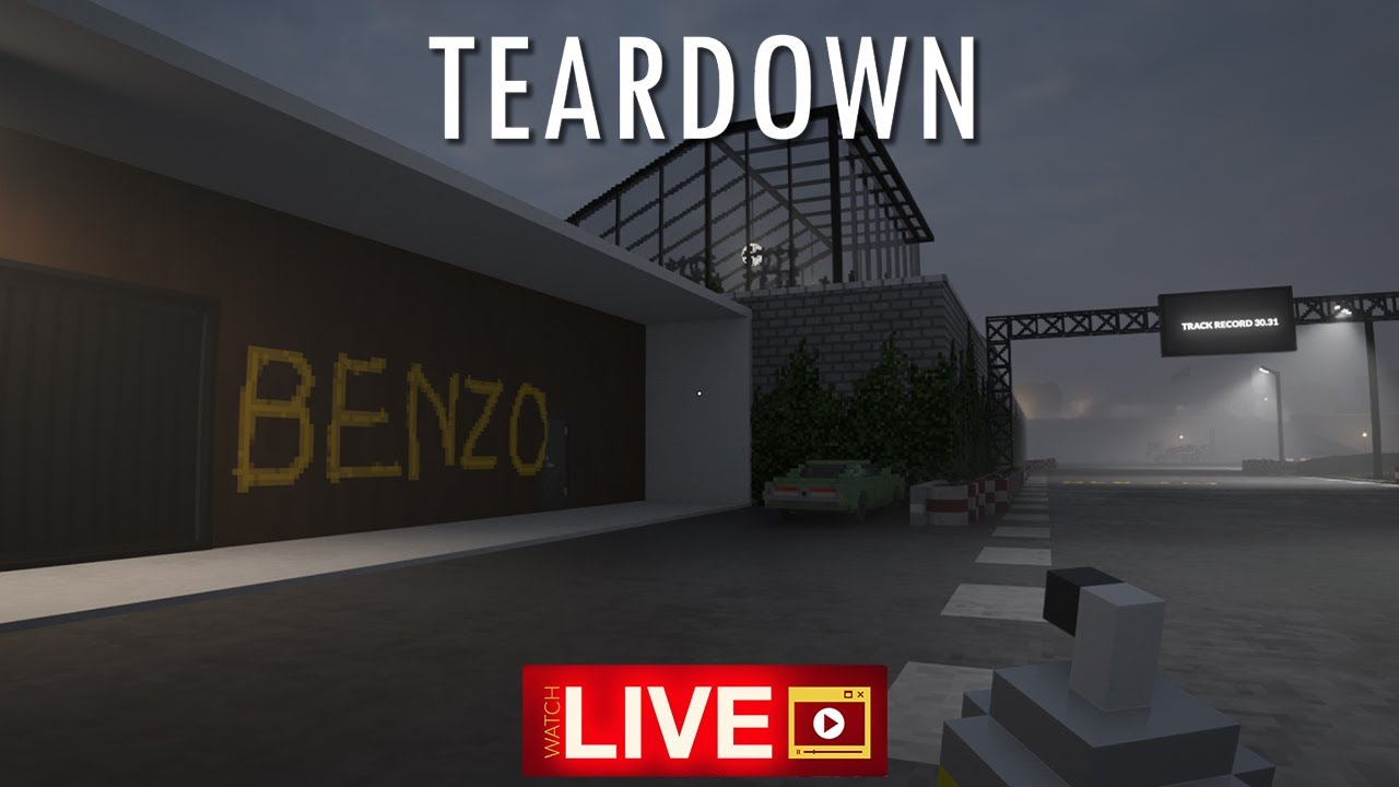 BenzoGaming - LIVE 🔴Teardown on Steam - Lets destroy stuff BUT we have 1 minute!