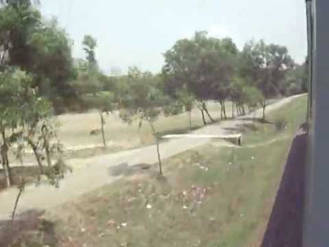 Bangladesh Railway 754 Down Silkcity Intercity Speedy Crossing Mohera RS area.MP4