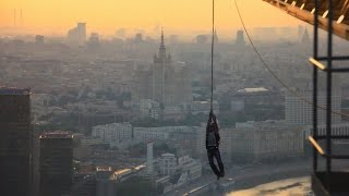 Spiderman swing in real life \ Прыжок c крана в стиле Человека-Паука