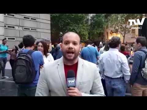 Venezolanos protestan en Argentina juramentación de Maduro como presidente