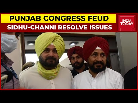 Punjab Congress Crisis: Navjot Sidhu & CM Channi Resolve Issues, To Address Joint-Press Conference