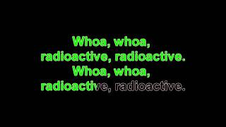 Radioactive by Imagine Dragons (karaoke with lead vocals)