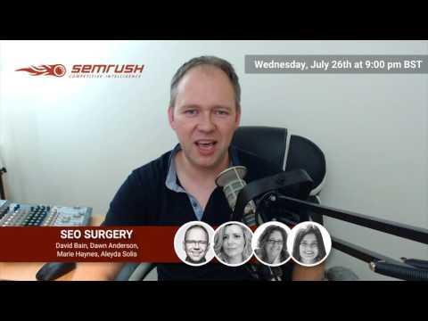 SEO surgery #6 David Bain Promo
