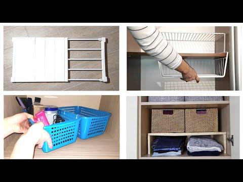 ОРГАНИЗАЦИЯ хранения на ВЫСОКИХ и ГЛУБОКИХ ПОЛКАХ в шкафу. Идеи для удобного хранения вещей. photo