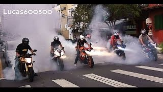 Burnout Coletivo - Crazy Bikers!