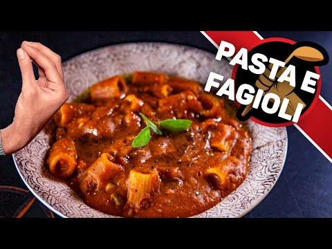 Паста Фаджоли Pasta e Fagioli. Итальянская паста с бобами.