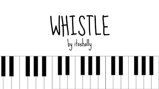 WHISTLE - BLACK PINK - Piano Tutorial