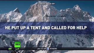 Russian climber rescued by Pakistani Army at 6300m after 6 days without food