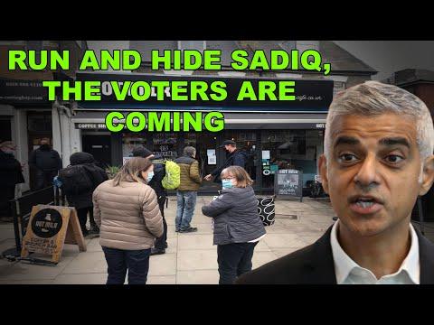 Sadiq Khan Hits The Campaign Trail. 6 Local Residents Approach, He Runs & Hides 🤣😂