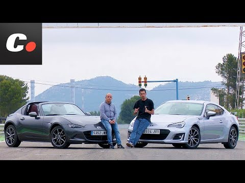 Subaru BRZ vs Mazda MX-5 RF | Comparativa | Prueba / Test / Review en español | Coches.net