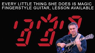 Every Little Thing She Does is Magic, The Police, Fingerstyle Guitar Cover, lesson available!