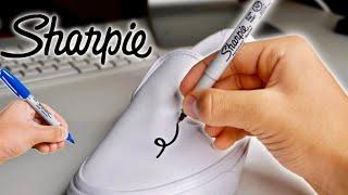 Custom SHARPIE Vans!! (Giveaway)