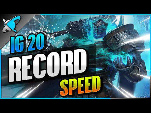 FASTEST ICE GOLEM 20 RUN | My NEW Record !! | Guide & Champion Builds | RAID: Shadow Legends
