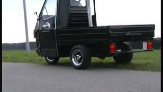 piaggio ape 50 downhill drive 2 - youtube