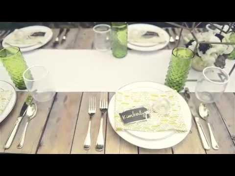 Modern/Rustic DIY Backyard Garden Wedding Reception Tablescape & Décor -- mywedding
