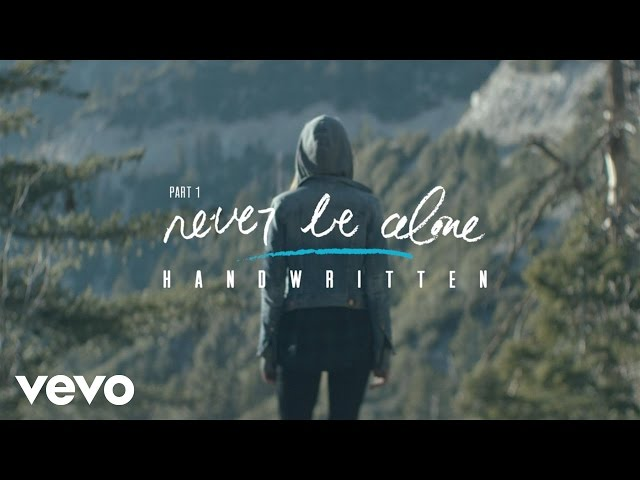 "Video oficial de ""Never be alone"""