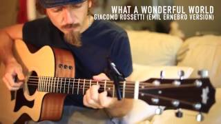 "Beginning Guitar How to Play ""What a Wonderful World"" fingerstyle TAYLOR 114CE (Giacomo Rossetti)"