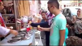 Ice cream vendor in Istanbul