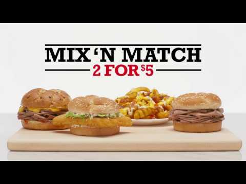 Arby's: 2 for $5 Mix 'n Match | Bears