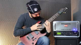 Sick Lick No.1 with my awesome Hufschmid String Muter on my 8 String Schecter Omen 8