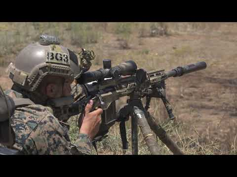 Watch the U.S. Marine Corps' M40A6 sniper rifle in action