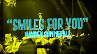 HAYDEN SUMMERALL - SMILES FOR YOU -  (OFFICIAL LYRIC VIDEO)