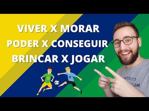 BRINCAR X JOGAR, VIVER X MORAR e PODER X CONSEGUIR | Vou Aprender Português