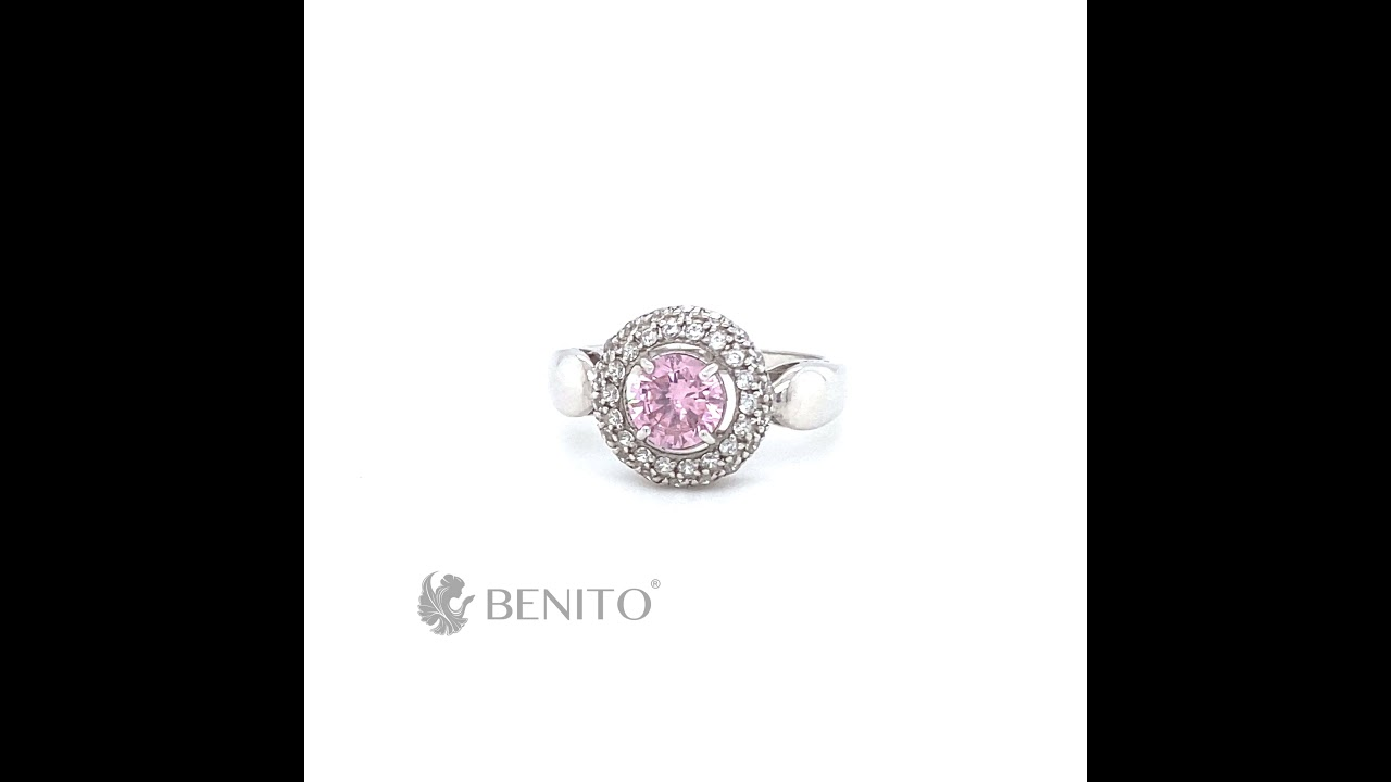 Laura Ring Pink and White Zircon Stones