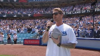 SD@LAD: Brett Young performs the national anthem