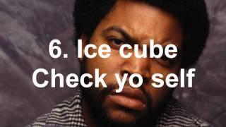 Top 10 best rap songs (oldschool version)