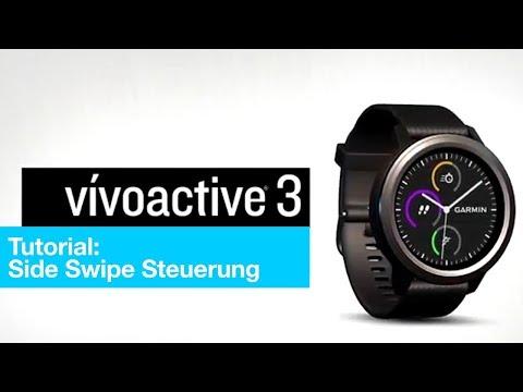 vívoactive® 3 Tutorial -  Navigieren mit der Side Swipe Steuerung