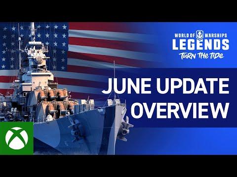 World of Warships: Legends - June Update Overview Trailer