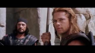 Troy Achilles's spear throw scene HD