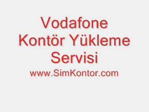 Vodafone Kontör Yükleme Servisi