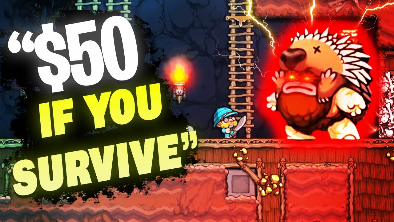 HighDistortion - HE BET ME I COULDN'T BEAT THIS LEVEL - Spelunky 2 W/CDNThe3rd