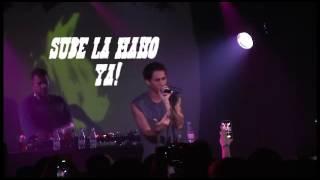 Canserbero en vivo Barcelona 2014. (Letra).