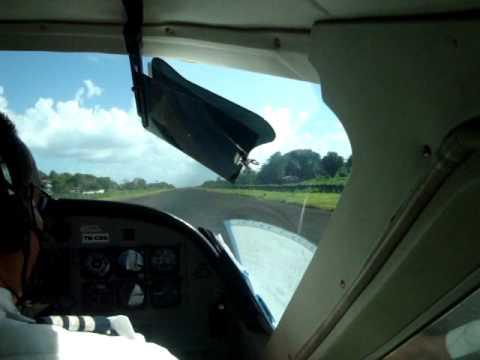 Take off from Big Corn Island, Nicaragua