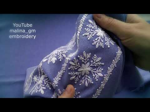 Very Easy Embroidery * Decorative stitches for border embroidery #malina_gm