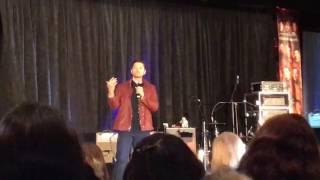 Misha talks about Jared giving West sugar at JaxCon 2017 width=