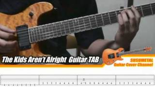 """How to play """"The Kids Aren't Alright"""" on the guitar (Intro & Solo) (slow speed)"""