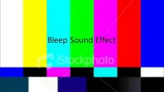 Bleep Sound Effect