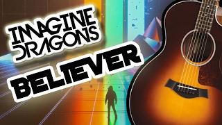 Imagine Dragons - Believer | Lyrics [Acoustic Guitar KARAOKE/INSTRUMENTAL/LYRICS]