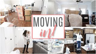 MOVING IN AND SETTING UP! // UNPACKING AND MOVING VLOG // Simply Allie