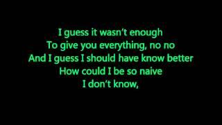 Remember Me - Daley feat. Jessie J - Lyrics