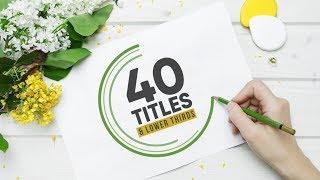 40 Titles & Lower Thirds Pack - FCPX Templates