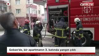 Gebze'de apartman dairesinde yangın!