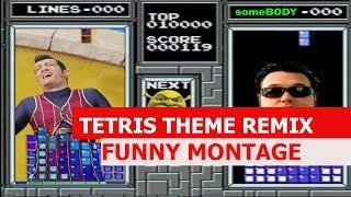 Tetris Theme Remix - FUNNY MONTAGE